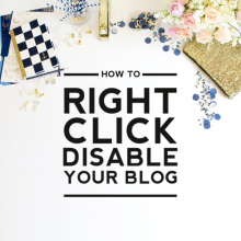 How To Right Click Disable Your Blog