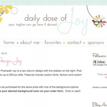 Premade for Blogger AND Wordpress!!