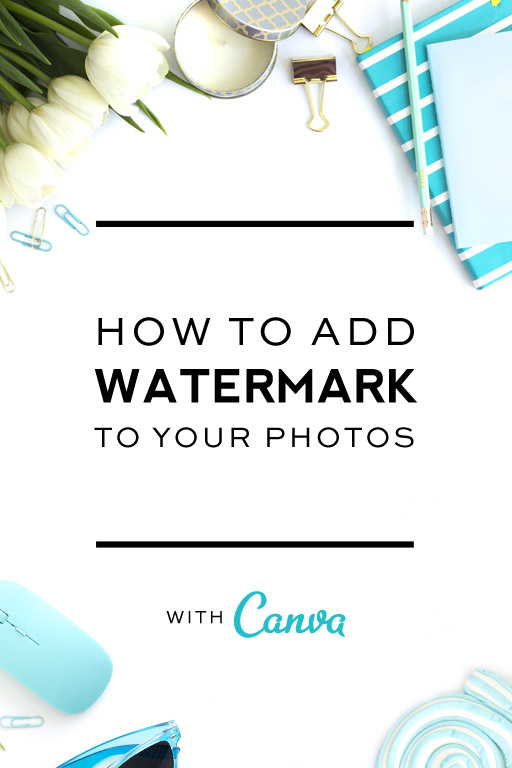 How to add watermark to photos using canva