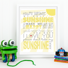 You Are My Sunshine | Free Printable