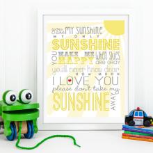 You Are My Sunshine | Free Printable
