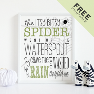 Free Itsy Bitsy Spider Printable Poster Perfect for Kids!