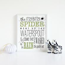 Itsy Bitsy Spider | FREE Printable
