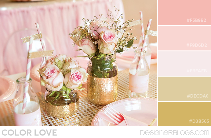 Pink gold color palette - Gold and silver color scheme ...