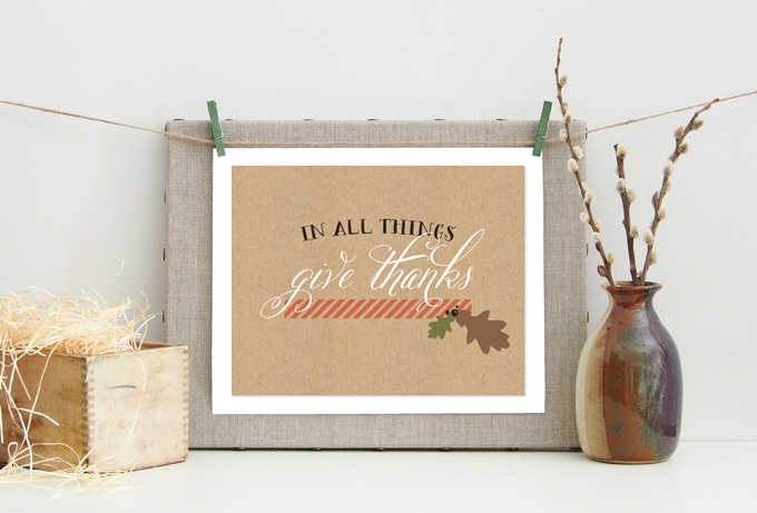 in all things give thanks printable