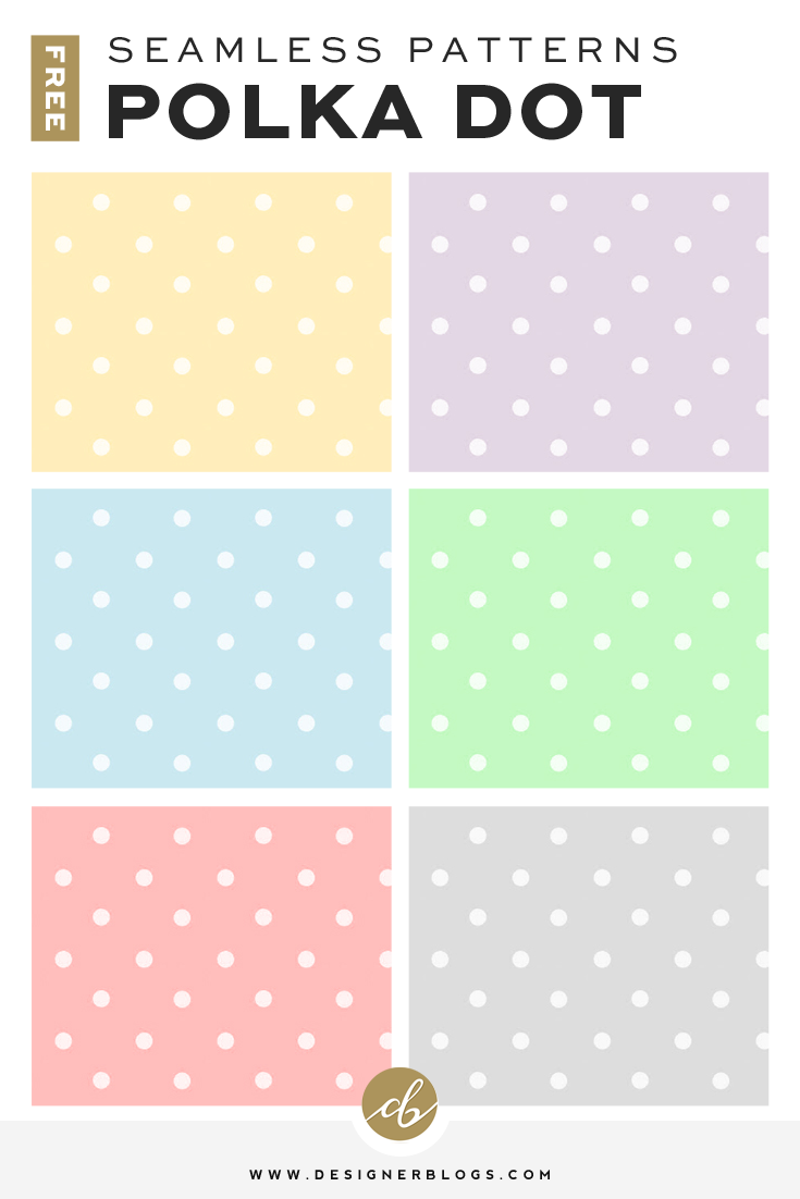 Free Seamless Polka Dot Pattern Backgrounds avaiable in 6 colors!