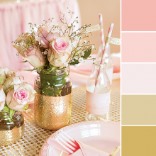 Color Love | Pink & Gold