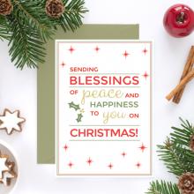 Free Christmas Postcard Printable