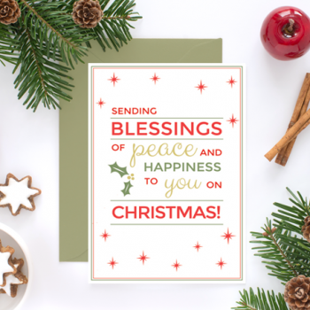 Free Christmas Postcard Printable
