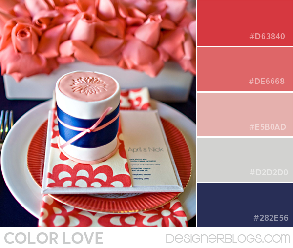 Coral and Navy Color Palette