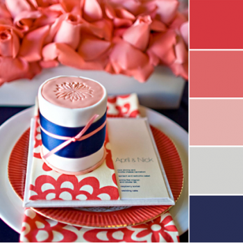 Color Love | Coral and Navy