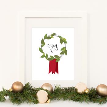 """Joy"" Free Christmas Print"
