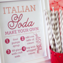 Free Printable | Italian Soda Bar