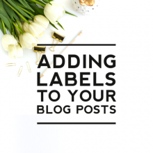 Adding Labels to your Blog Posts