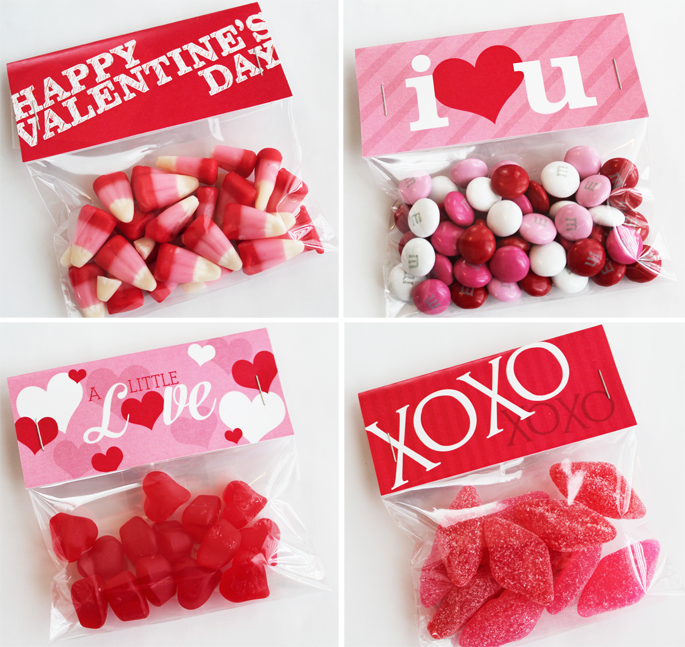 Printable Valentine's Bag Toppers