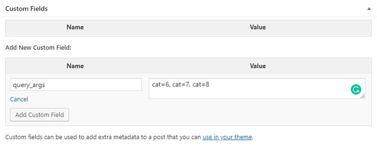 Add New Custom Field - Designer Blogs