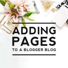 Adding Pages to a Blogger Blog