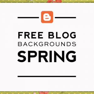 Free Easter & Spring Blog Backgrounds