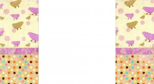Free Spring Blogger Background with Purple Peeps