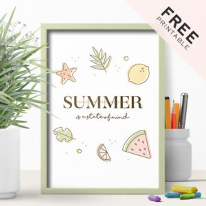 Free Summer Printable Poster - Perfect For Office Decoration