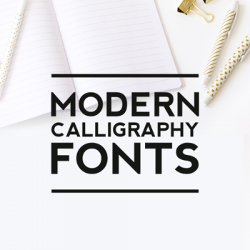 Trending:  Modern Calligraphy Fonts