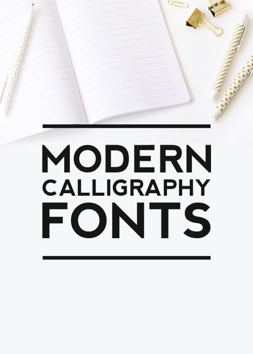 Modern calligraphy fonts designer s