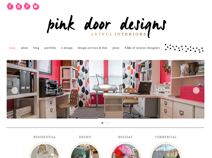Pink Door Designs | Custom Website Design | by Erika S.