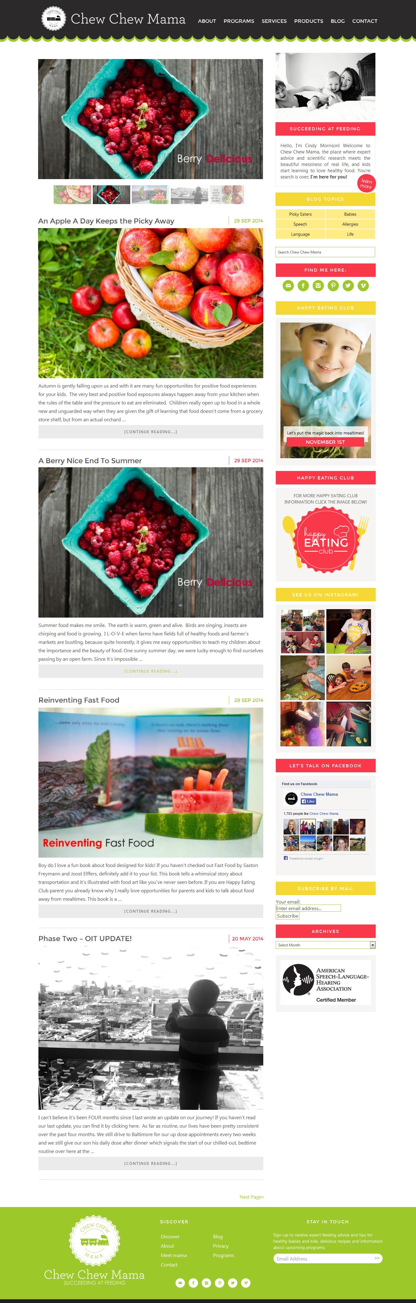 Chew-Chew-Mama-custom-blog-design-full-design