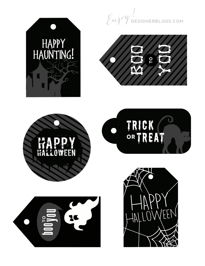 photograph regarding Printable Halloween Tag identified as Absolutely free Printable Halloween Tags