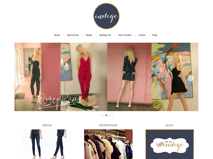 Shop Indigo | Custom Website Design | by Erika S.