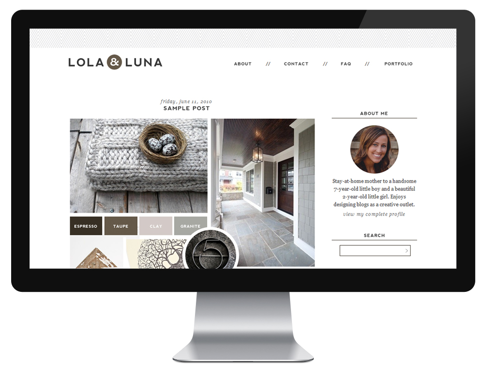 From board to blog modern rustic for Wordpress design