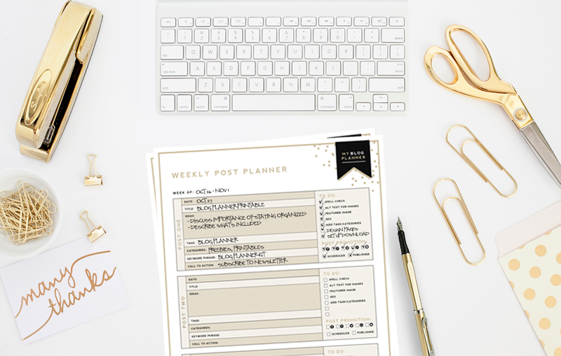 Designer Blogs ultimate blog planner kit | free printable | designer blogs