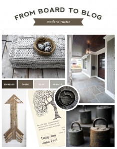 From Board to Blog | Modern Rustic