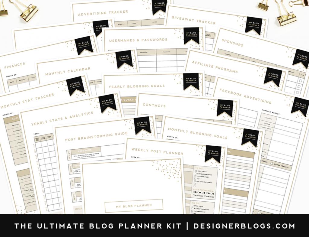 gratis blogplanner 2017