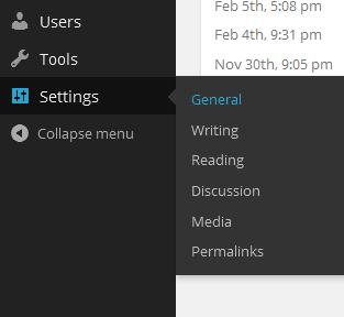 WordPress Dashboard Settings - Designer Blogs