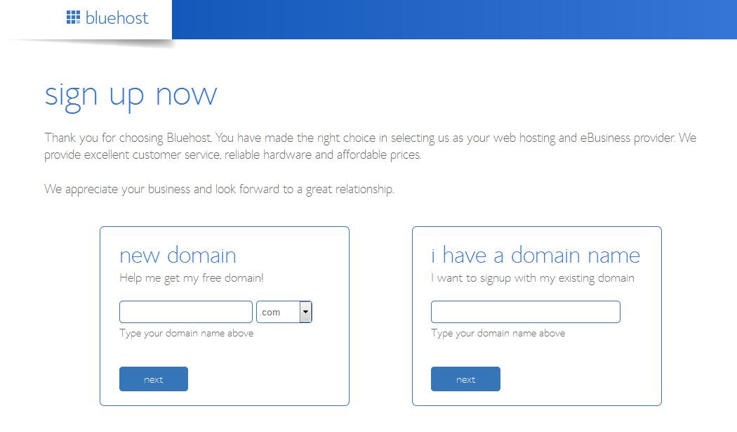 Bluehost Sign Up Page - Designer Blogs
