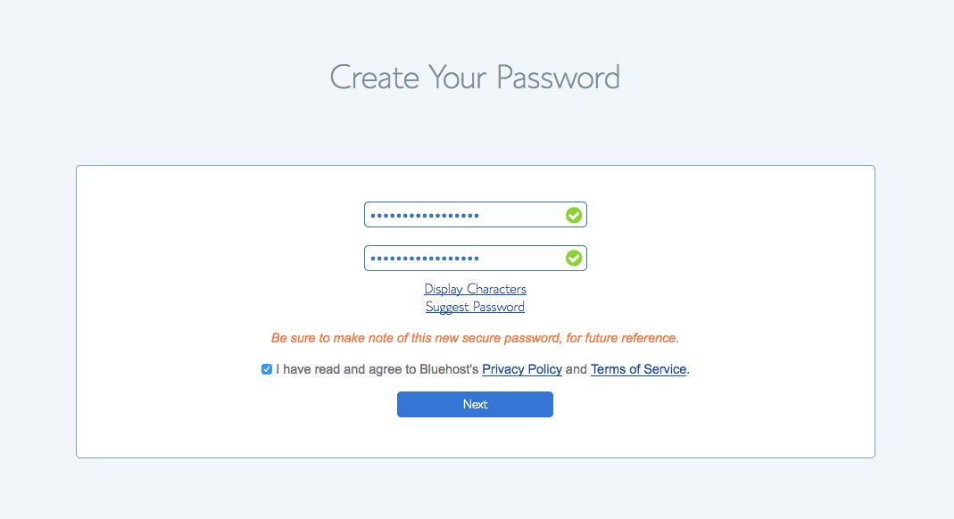 Create Your Password - Designer Blogs