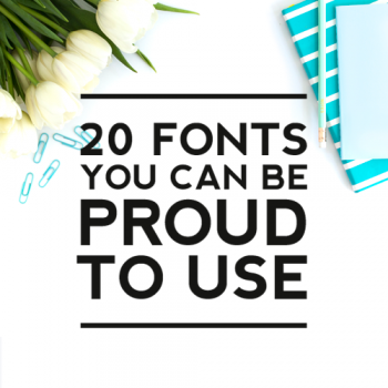 20 Free Fonts You Can Be Proud to Use