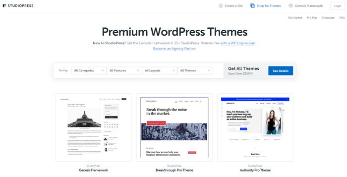 Studiopress Premium WordPress Themes - Designer Blogs