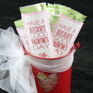 Kids Valentine's Fruit Strip Wrap   Free Printable