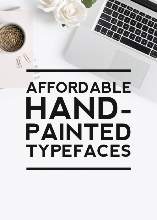 Affordable Hand Painted Fonts Post Cover