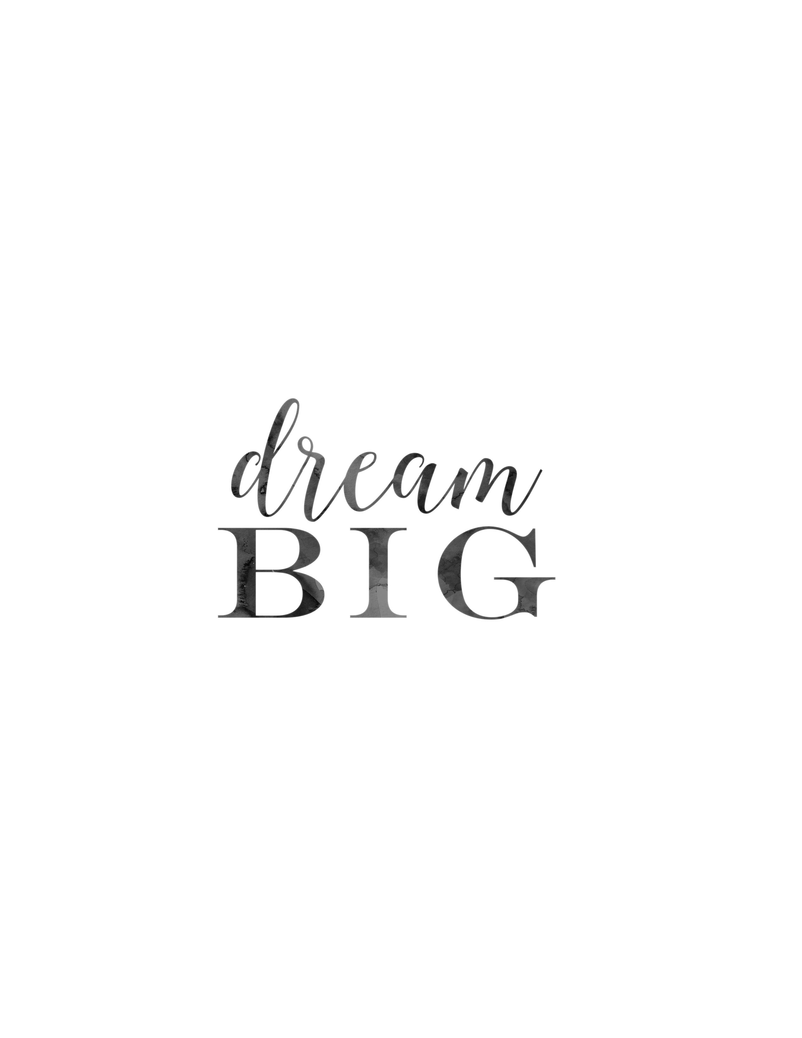 Printable Dream Big Designer Blogs
