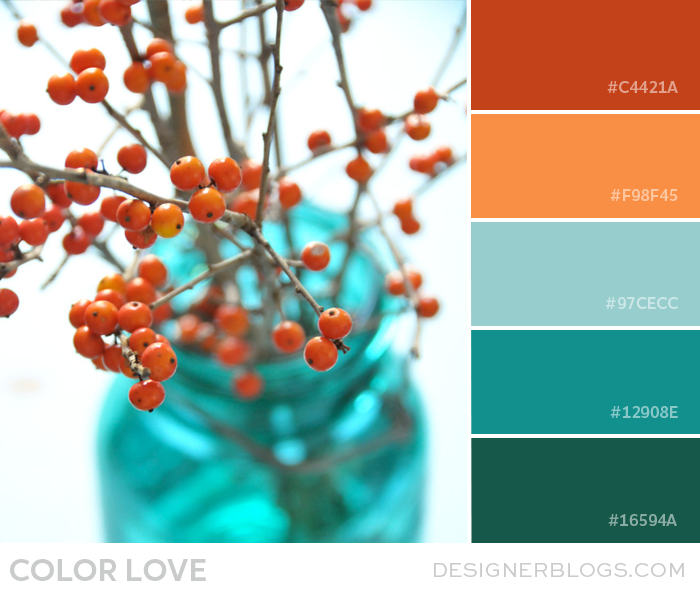 Color Love Orange And Teal