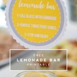 Printable | Lemonade Bar