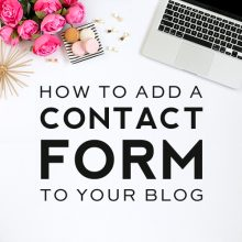 How To Add a Contact Form to Your Blog