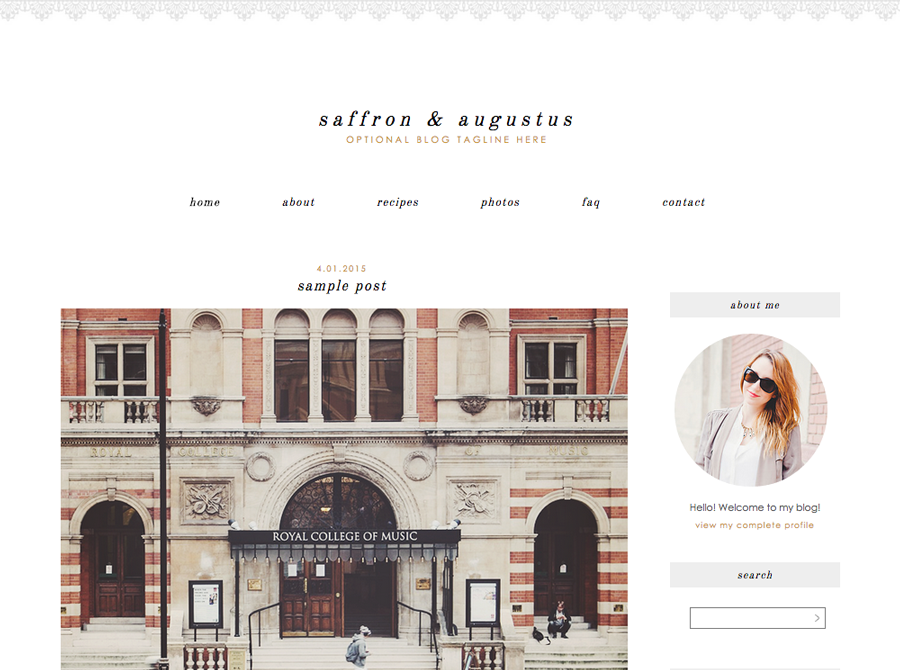 Saffron | Blog Templates