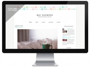 Free Monthly Blogger Template | May