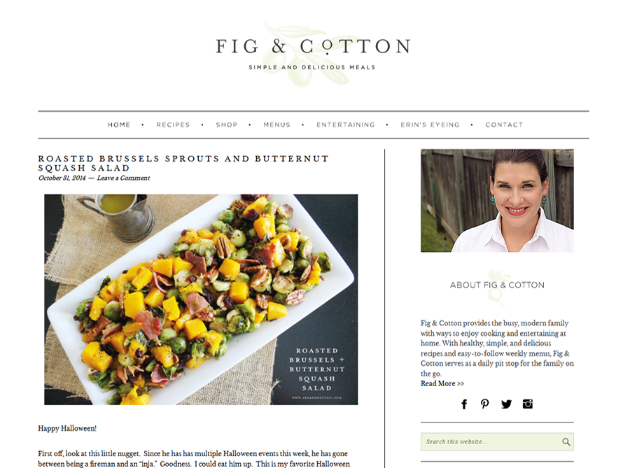 Fig & Cotton | Custom Blog Design | by Erika S.