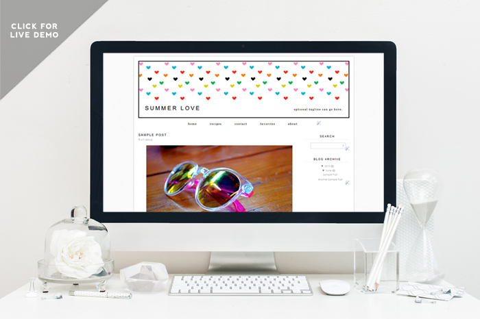 Free Monthly Blogger Template | June