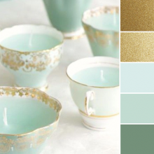 Color Love | Gold & Robin's Egg Blue